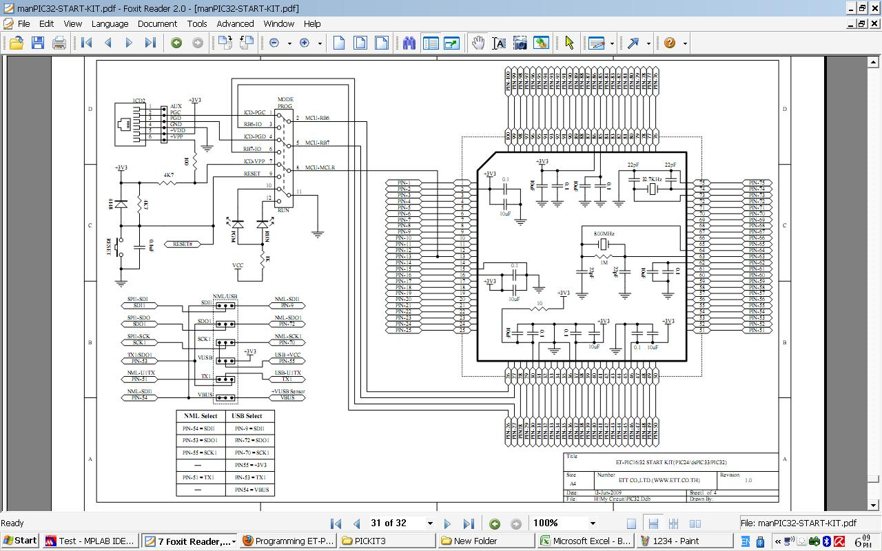 Programming Et Pic16 32 Start Kit By Pickit3 Pickit 3 Circuit Diagram Mcu