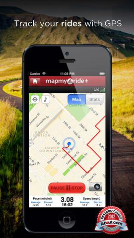 แนะนำ APP ฟรี Map My Ride+ - GPS Cycling