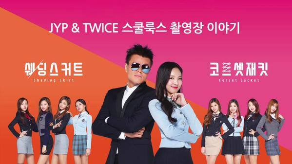 TWICE] JYP TWICE ได้รับเลือกให้เป็นพรีเซนเตอร์ชุดนักเรียน Skoollooks