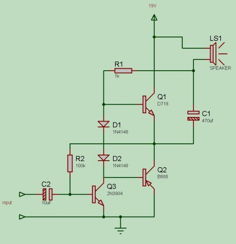 วงจรแอม tr b688 d718 + c1815มันใช้ไฟ6vได้ไหม - Pantip