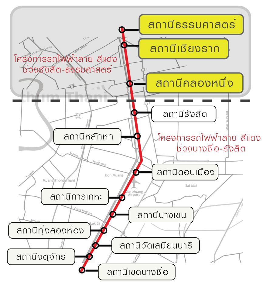 รถไฟฟ้าสายสีแดงช่วง รังสิต-ธรรมศาสตร์ มาคุยกัน - Pantip