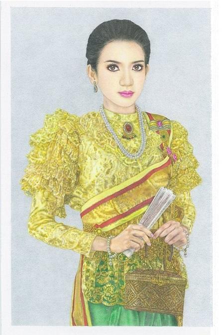 ผลการค้นหารูปภาพสำหรับ รูปวาดผู้หญิง ใส่ชุดไทย ร.5