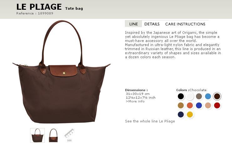 Longchamp Bag Le Pliage Size : Longchamp le pliage sizes carry on tote
