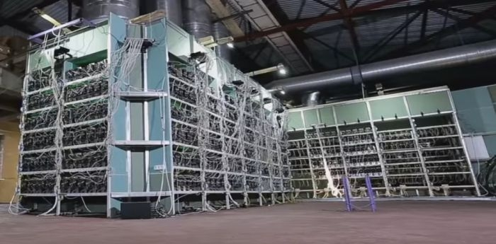 Cooling mining room