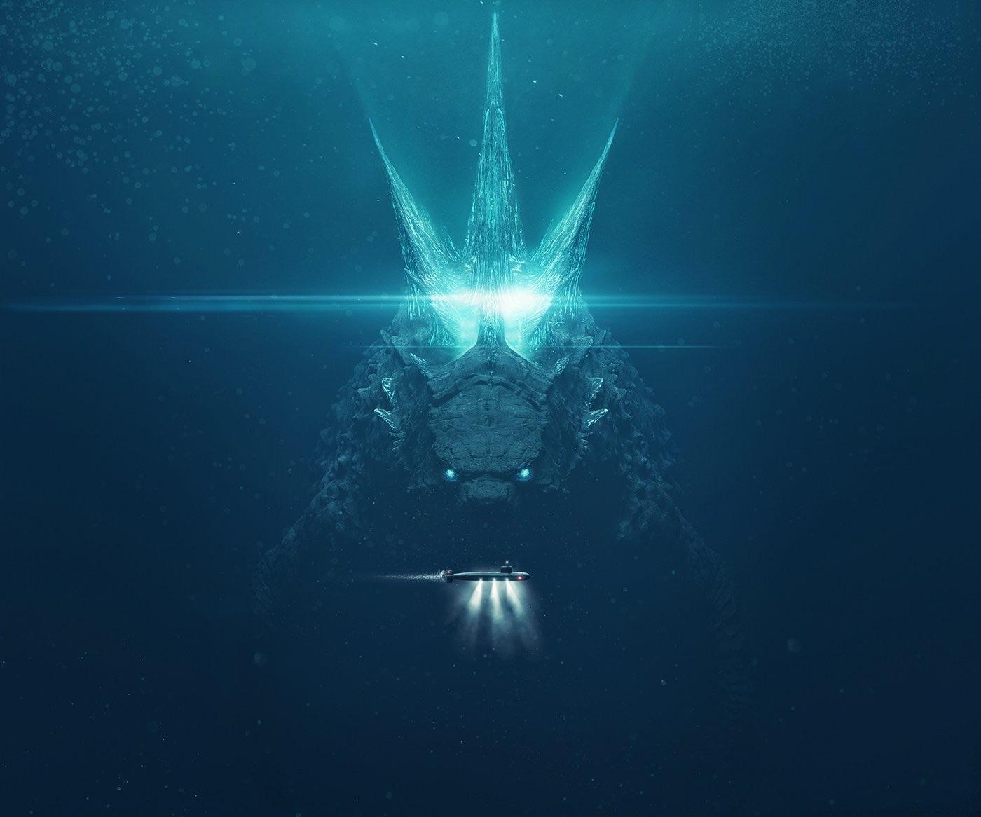 "Godzilla King of the Gods Movie Poster 2019 24/"" x 36/"""
