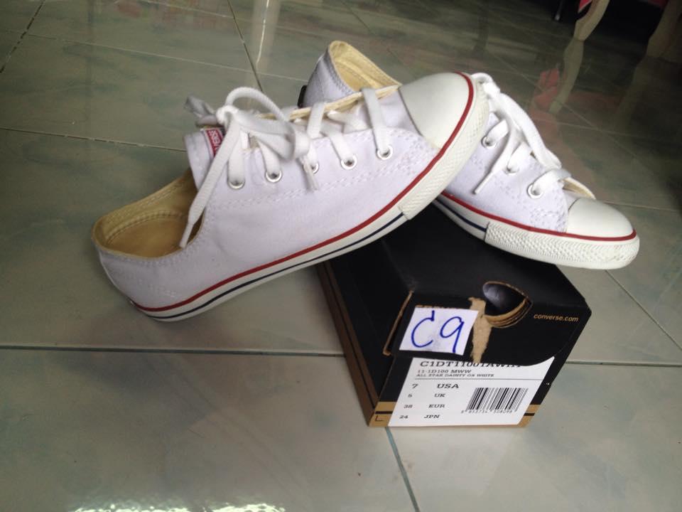 competitive price 242dd 8f31e Converse Chuck Taylor All Star Dainty White Low+ Size(Euro)  38  USA   7  รุ่นชมพูแต่แบบพื้นบางไม่หนัก 1,000 พร้อมส่ง - Pantip