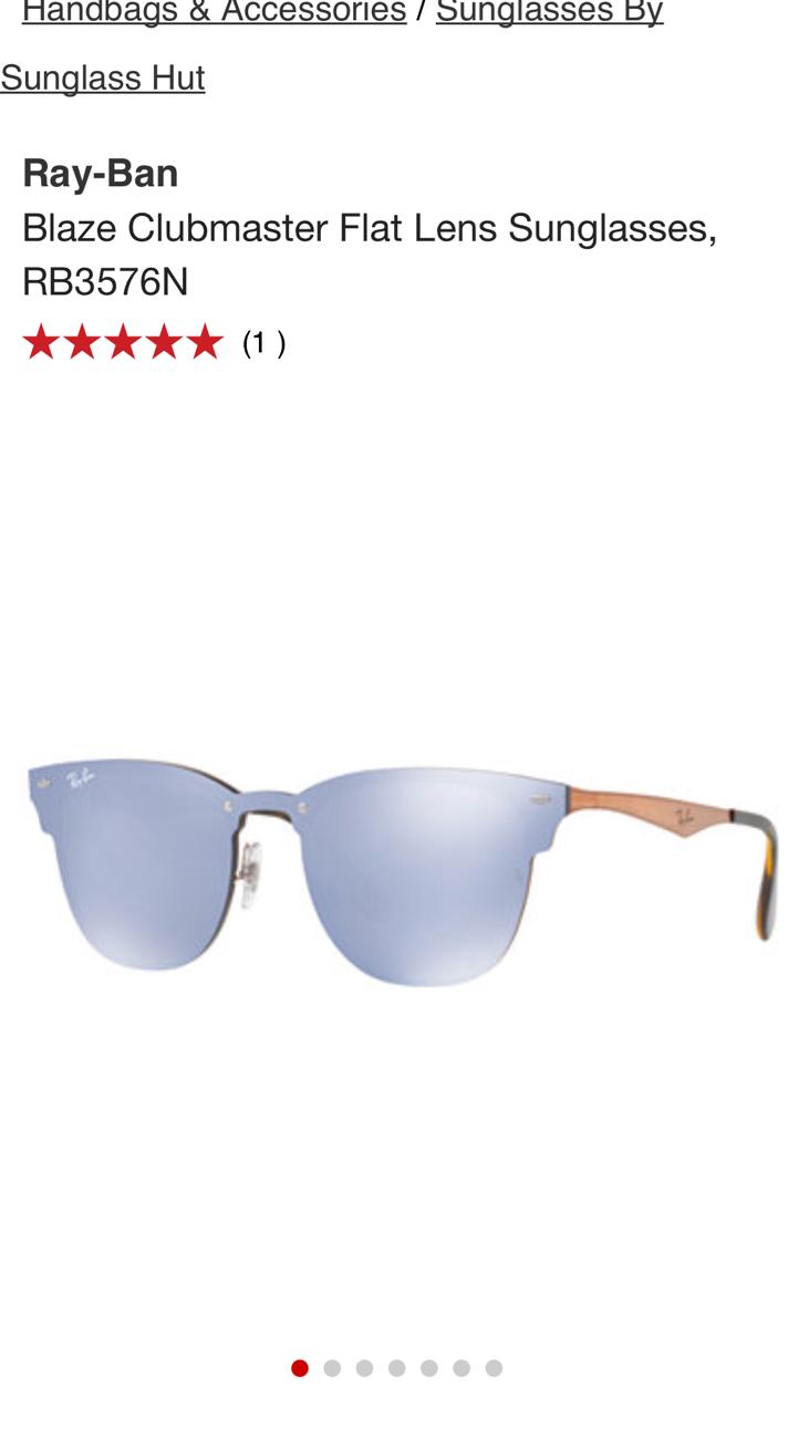 8c69a6d5c6e อยากทราบว่าแว่น Ray ban รุ่นในรูปนี้มีขายในเมืองไทยมั๊. Ray-Ban 3576n  153 7v Sunglasses Blaze Clubmaster Black Blue Mirror Flash .