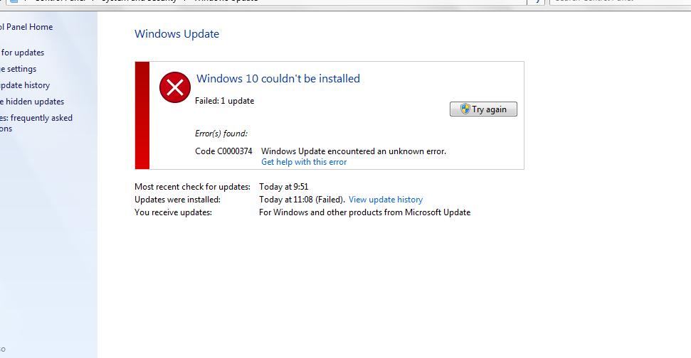 modern setup host has stop working ระหว่างอัพเกรดเป็น windows 10