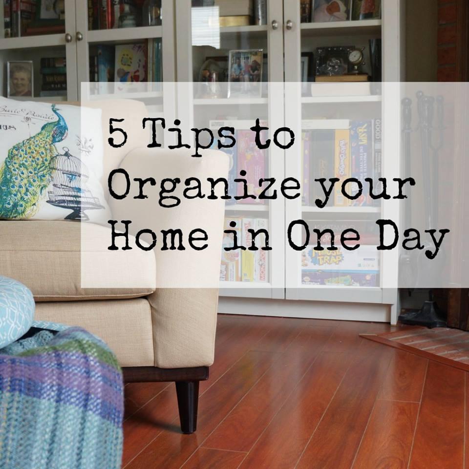 5 5 tips to organize