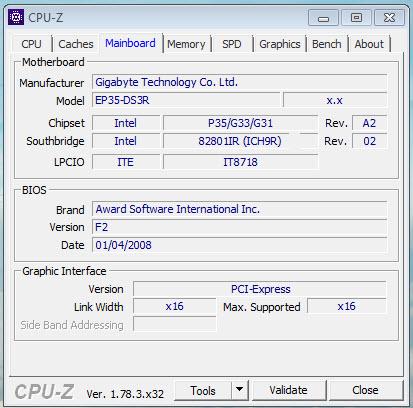บอร์ดเก่า Gigabyte Socket 775 GA-EP35-DS3R GA-EP35-DS3R อัพแรมเป็น 8