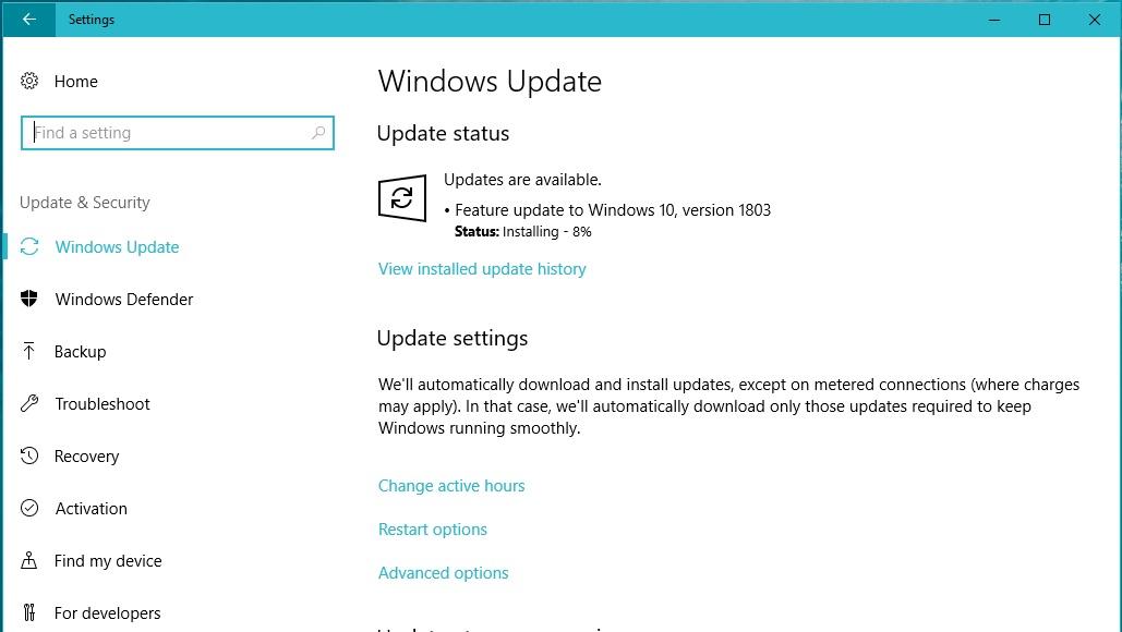 Update Windows 10 เป็น Version 1803 แล้วพบปัญหาอะไรกันบ้างไหมครับ