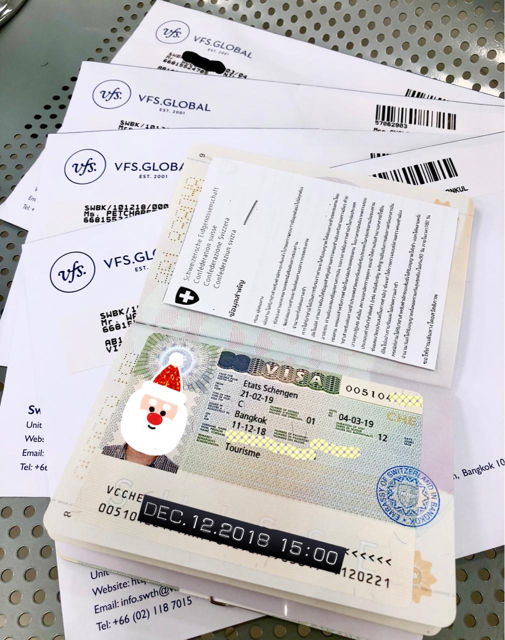 รีวิว การขอ visa Switzerland กับตัวแทน VFS Global
