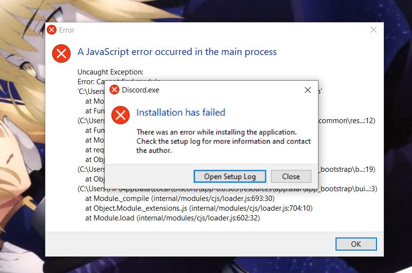 โน้ตบุ๊คขึ้น javascript error occurred in the main process ตามรูป