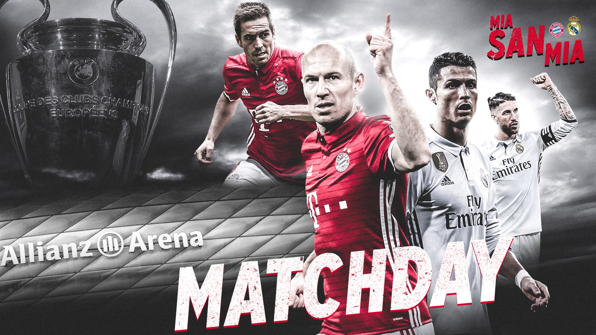 MIA SAN UEFA Champions League FC Bayern Munchen Vs Real Madrid CF