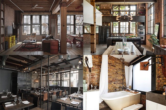 Loft industrial for Interior decoration new york style
