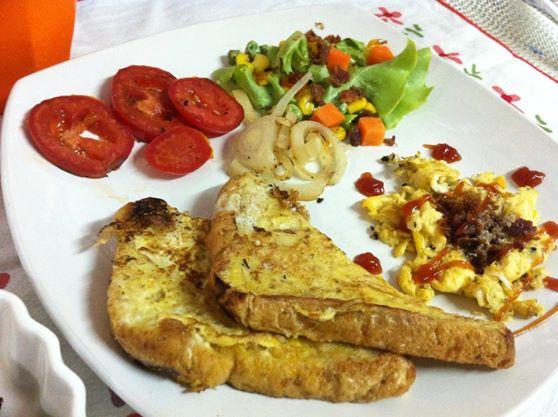 อาหารเช้า เฟรนส์โทส ไข่