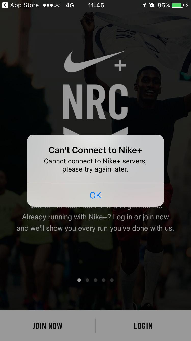 App Nike Run เข้าไม่ได้ - Pantip