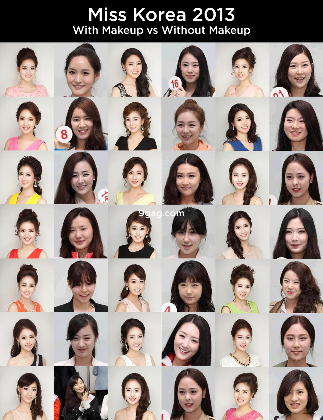 all the miss korea 2013 contestants have the same face due