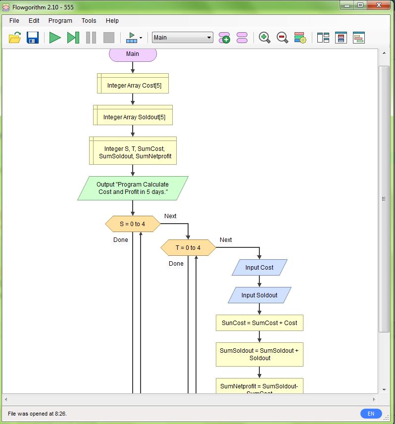 รบกวนช่วยทำ Flowchart ของ โค้ด C++ ชุดนี้ให้ดูหน่อยครับ