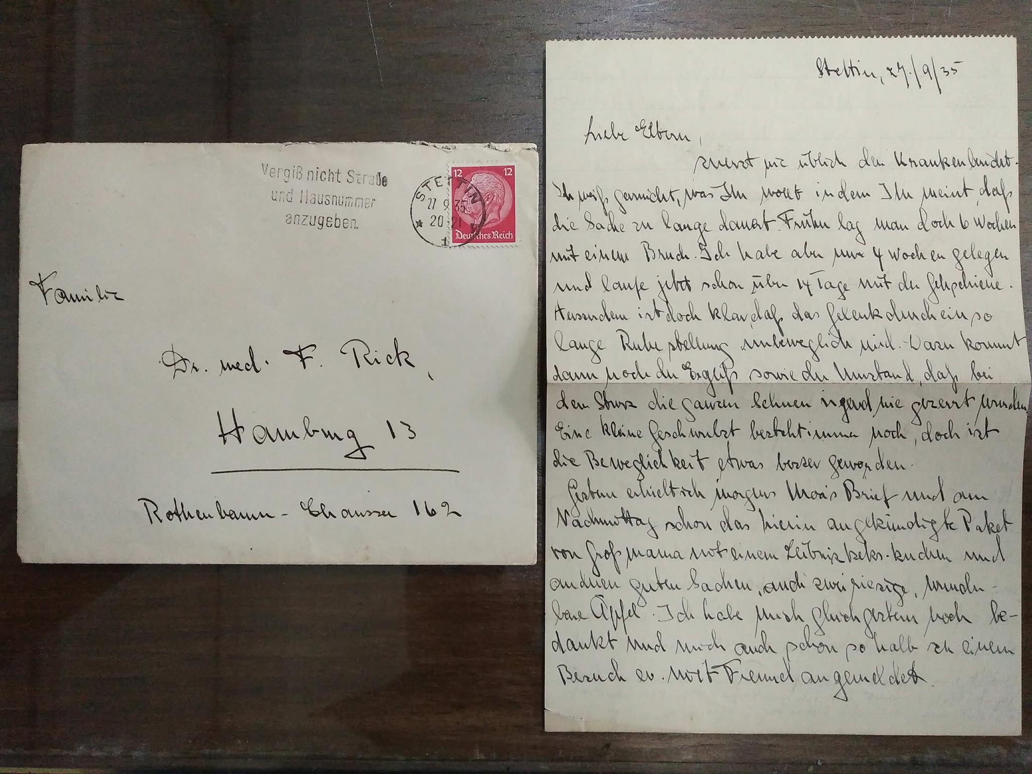 ช่วยแปลจดหมายปี 1935 จากเยอรมันให้บ้างครับ +++ - Pantip