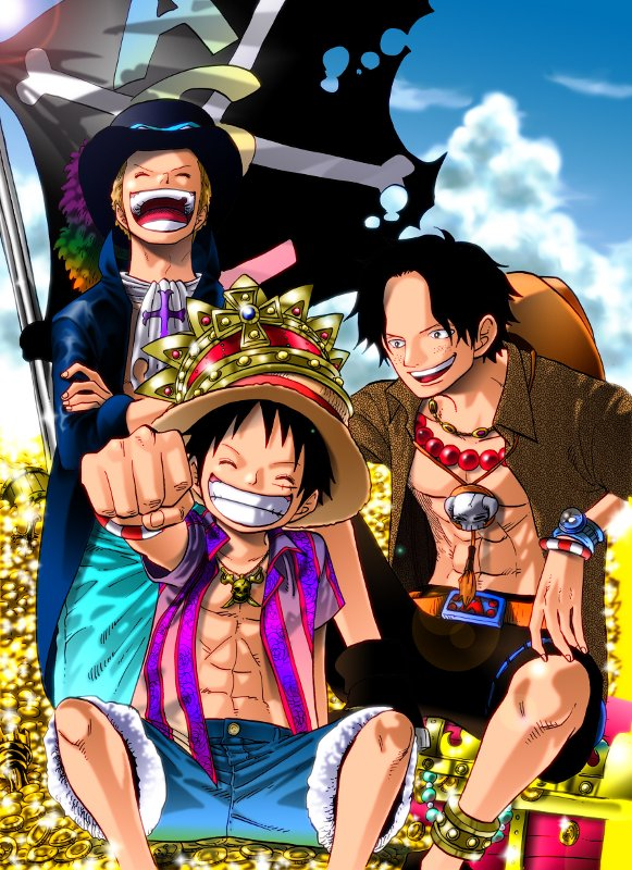 Pic Monkey D LuffyPortgas AceSabo One Piece TT