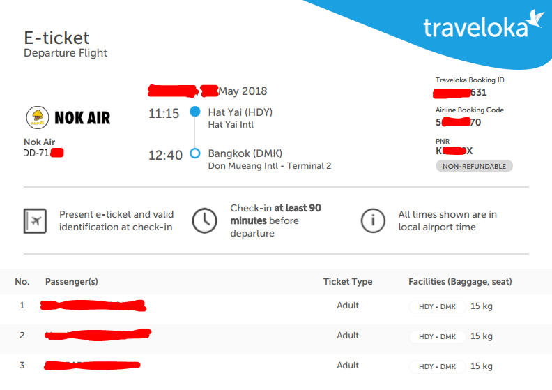 จอง ตั๋ว เครื่องบิน traveloka