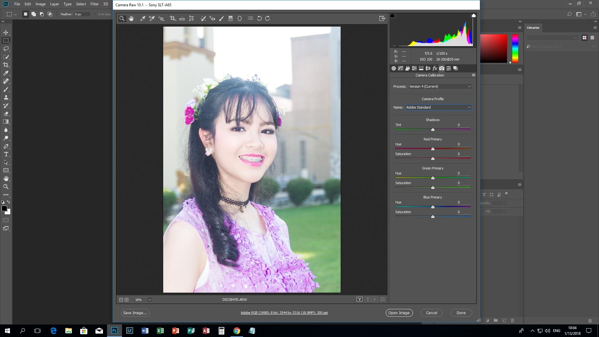 คาเมร่า รอว์ 10 1 ใน photoshop cc 2018 ไม่มีรายการ camera