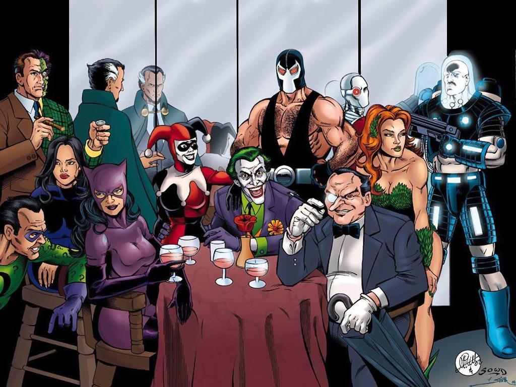 1 The Riddler Dark Jim Carrey 2 Mr Freeze 3 Poison Ivy Gotham City