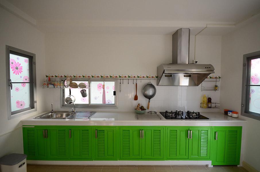 รีวิว สร้างห้องครัวปูน