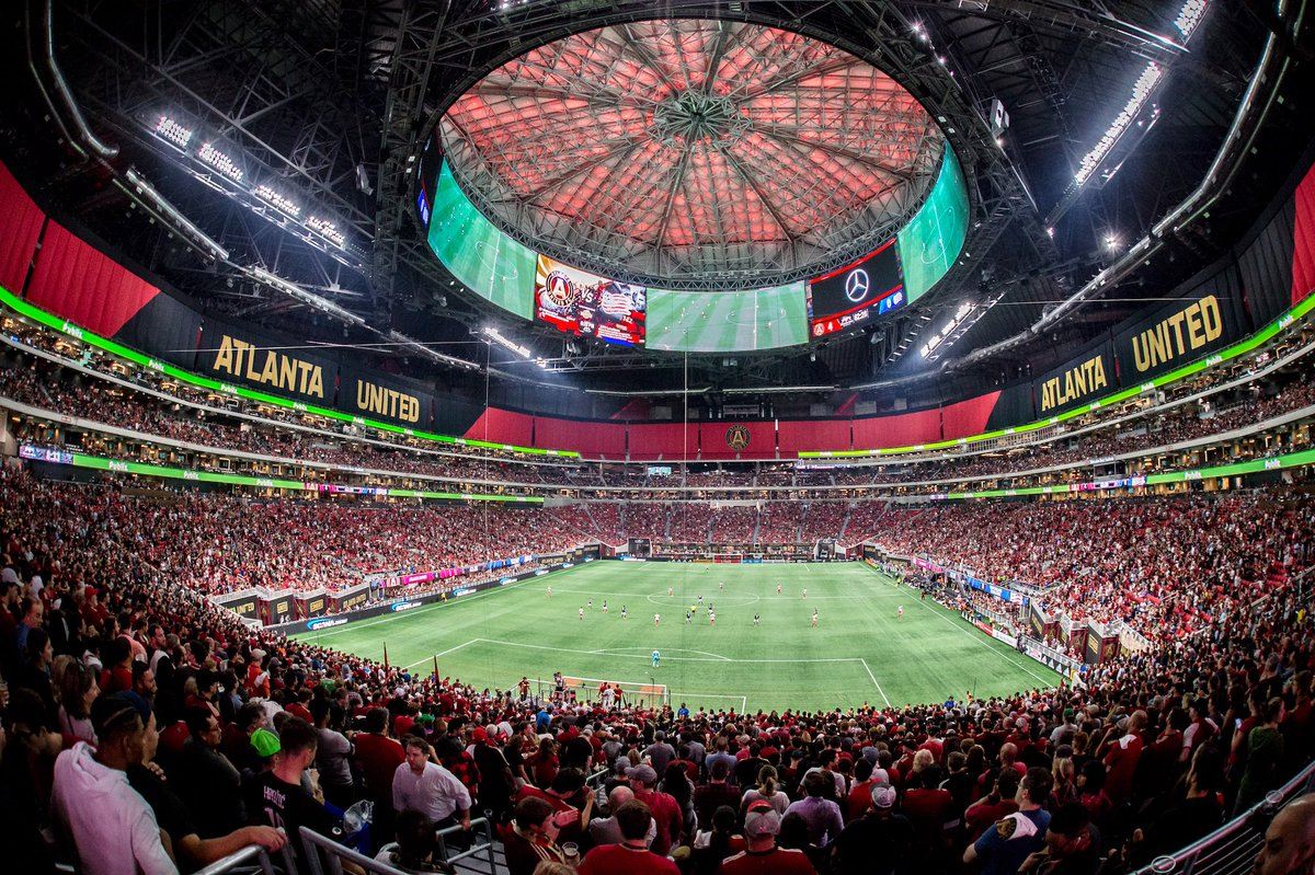 "Mercedes-Benz Stadium "" รังเหย้าใหม่ ดีไซด์สุดล้ำของเหยี่ยวดำ Atlanta  Falcons + + + - Pantip"