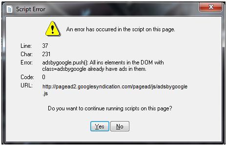 หน้าต่าง Error script เด้งแบบนี้แก้ไขยังไงครับ(มีภาพ) - Pantip