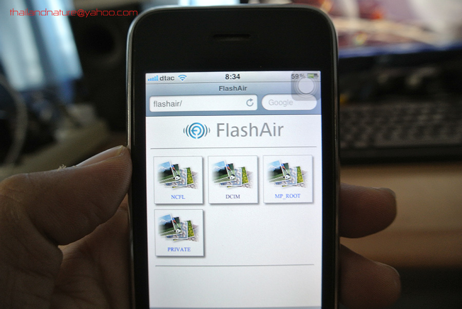 how to connect flashair to iphone