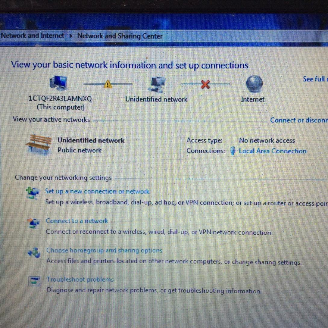 คอมฯ ขึ้นว่าUnidentified network No internet access ควรแก้ที่ตรงไหน ...