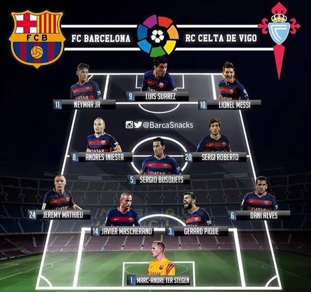 Celta Vigo Vs Barcelona Score Prediction: IHola! 23/09/2015 ** เชียร์สด LFP#5 **-: Celta De Vigo Vs