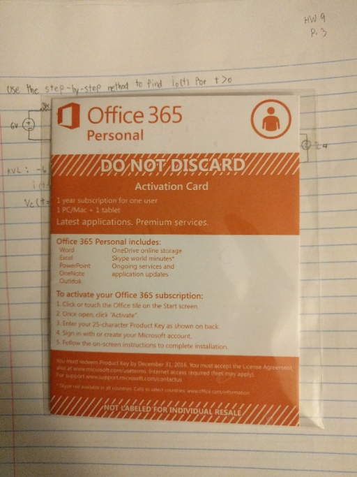 Office 365 personal activation card - Office 365 cle activation ...
