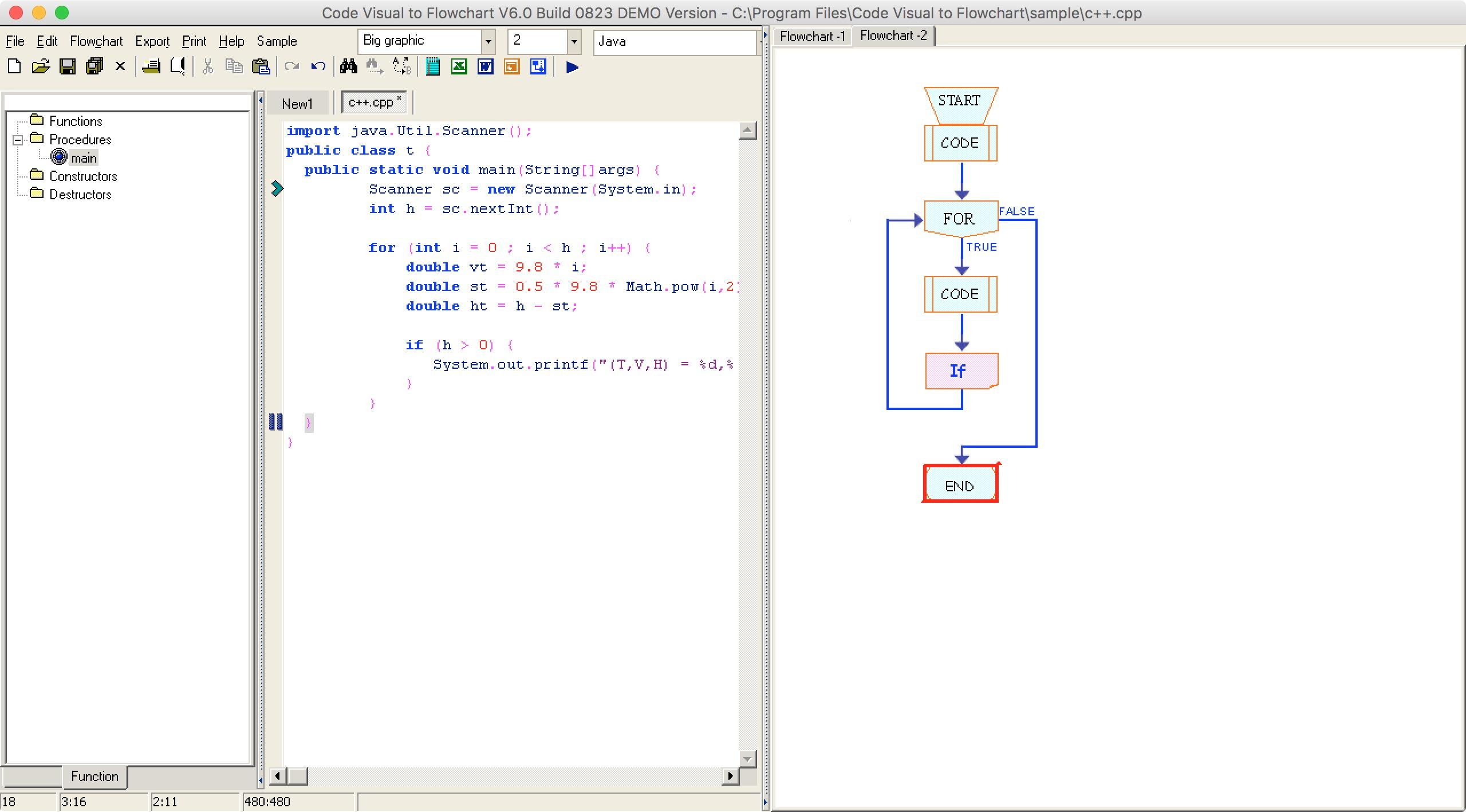 ใครพอแปลง code ให้เป็น Flowchart ได้ครับ ช่วยที พรีสสส