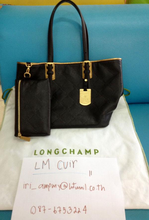 New Longchamp LM Cuir Black size L - Pantip