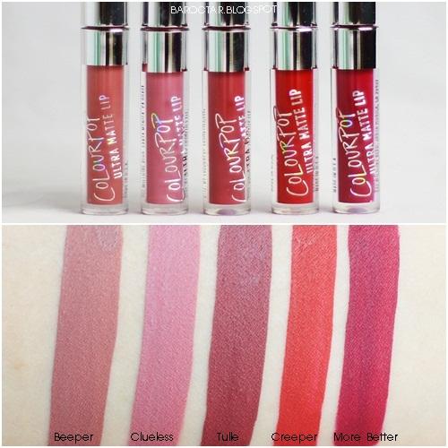 ผลการค้นหารูปภาพสำหรับ ColourPop Foxy Mini Ultra Matte Lip Set