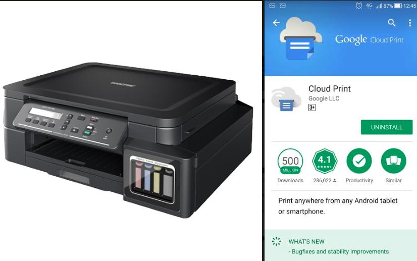 Tips : Brother T510w ใช้ให้คุ้ม กับ Google Cloud สั่ง Print