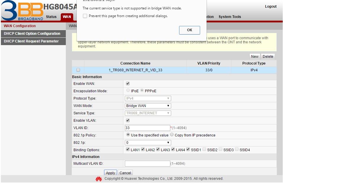 ตั้งค่า Bridge mode ของ Huawei HG8045A อย่างไรครับ - Pantip