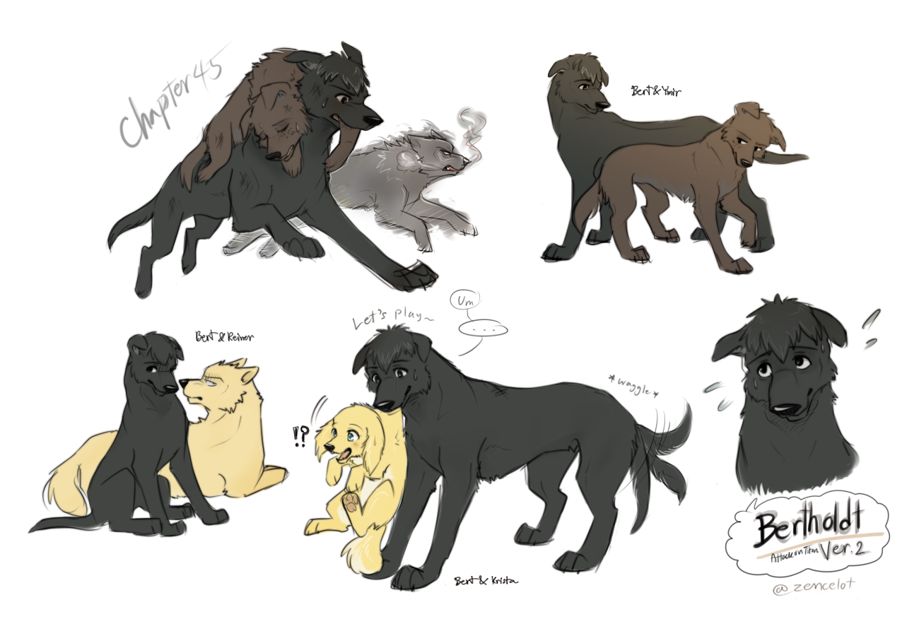 Eren X Levi As Cats And Dogs Comics