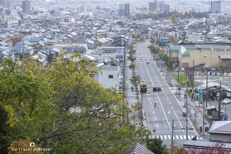 aizu wakamatsu view from limoriyama