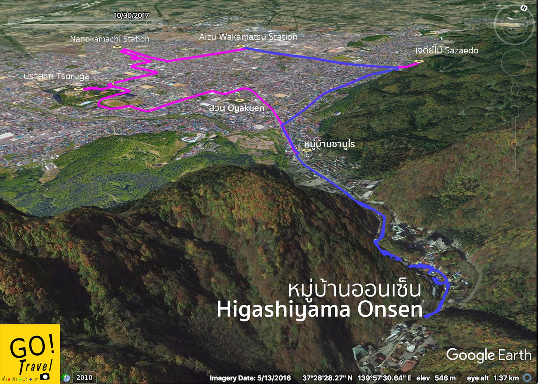higashiyama onsen map
