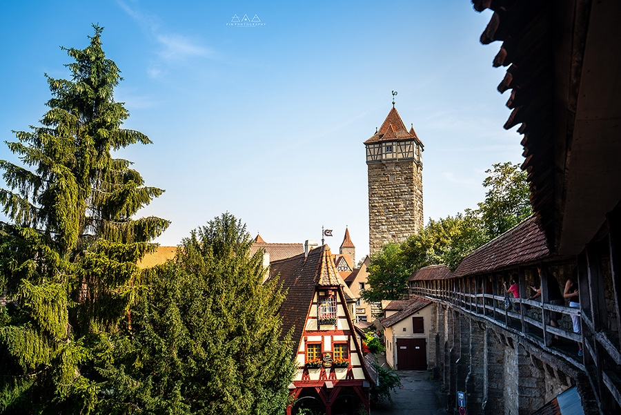 Rothenburg City Wall German