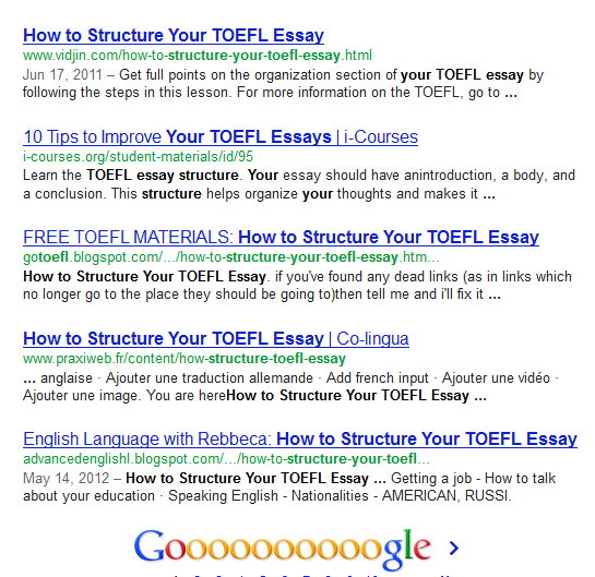 Toefl essay media