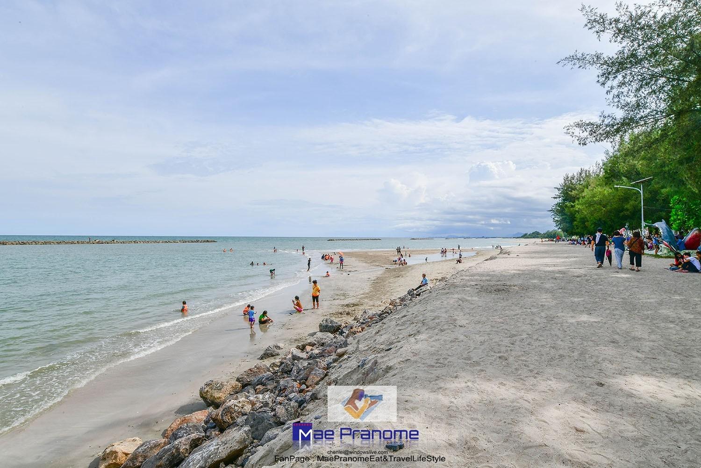 หาดเจ้าสำราญ เพชรบุรี ทะเลใกล้กรุงเทพ