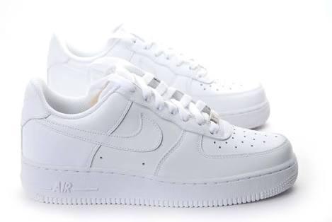 Nike Air Force 1 07 Femmes Chaussure Aujourdhui En Or Blanc.