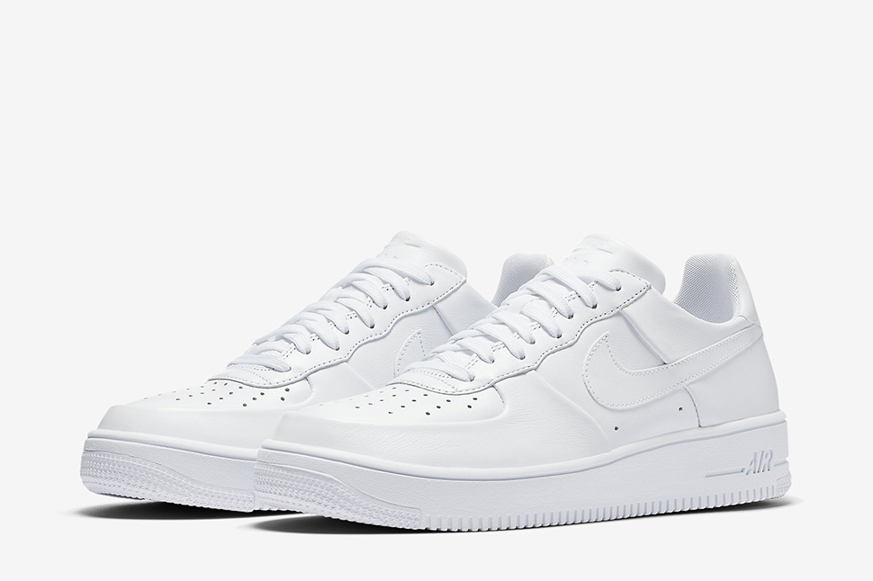 Nike Air Force 1 Ultraforce Leather Low Men's Shoes WhiteWhiteWhite 845052 100