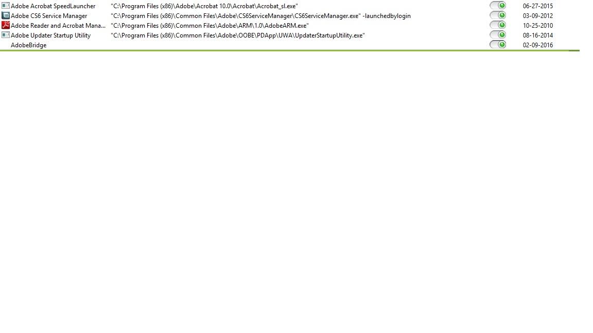 พวก Adobe ต่างๆ ใน Startup Manager สามารถปิดไปได้ไหมครับ จะมีผลเสีย