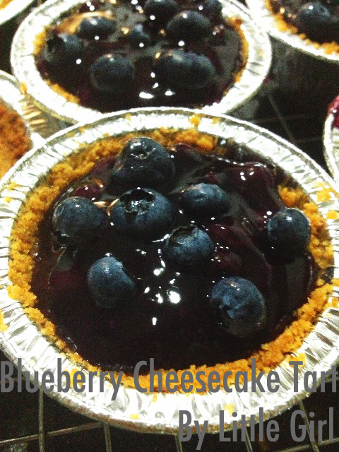 Red, White, And Blueberry Cheesecake Tart Recipe — Dishmaps